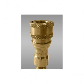 Single Safety Quick Disconnect Brass Coupler